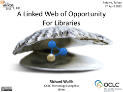 A Linked Web of Opportunity For Libraries