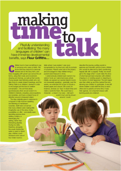 making-time-to-talk - Ann Bernadt Nursery