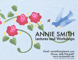 Annie`s Lectures and Workshops 2015-2017