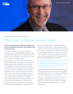 The road to better patient care