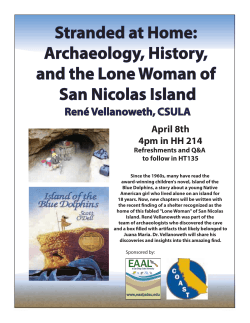 Archaeology, History, and the Lone Woman of San Nicolas Island