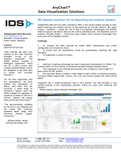 IDS Chooses AnyChart for Its Reporting and Analysis Systems