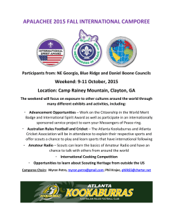 Apalachee 2015 Fall Camporee Teaser Flyer