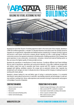 Apastata Steel Frame Buildings