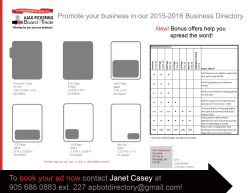 2015/16 Print Business Directory Sales Rate Card. - Ajax