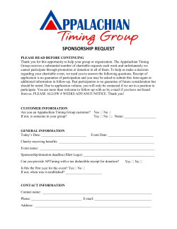 Sponsorship Request Form - Appalachian Timing Group