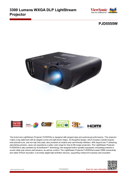 The brand new LightStream Projector PJD5555w is