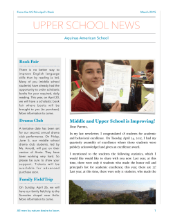 AAS US March Newsletter - Aquinas American School