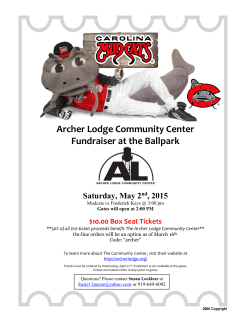 Come join the - Archer Lodge Community Center