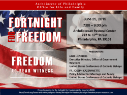 Fortnight for Freedom - Archdiocese of Philadelphia