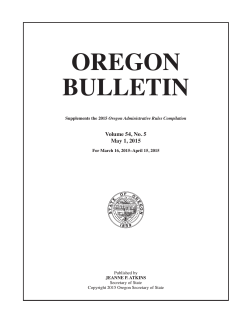 OREGON BULLETIN - State Archives
