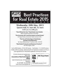 2015 Seminar Advertisement - Association of Real Estate Agents