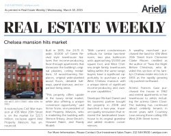 Chelsea mansion hits market