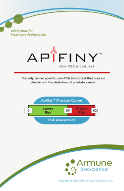 Order Apifiny™ Test Kits today!