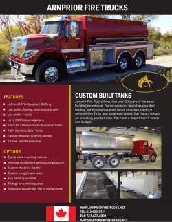 Custom Built Tanks - Arnprior Fire Trucks