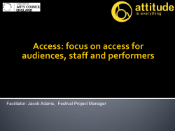 Facilitator: Jacob Adams, Festival Project Manager