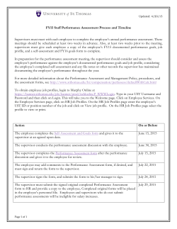 FY15 Staff Performance Assessment Process and Timeline