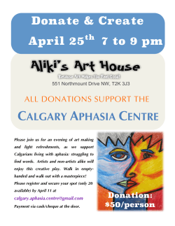 CAC Fundraiser – April 2015