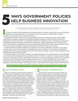 5 Ways Government Policies help Business Innovation