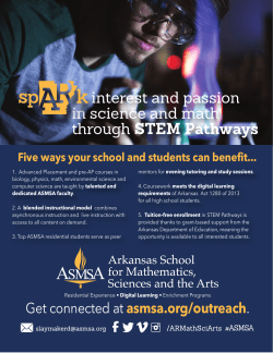 interest and passion in science and math through STEM Pathways