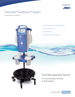 Thermedx® FluidSmart™ System Sell Sheet