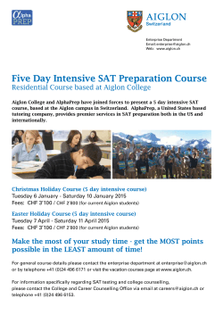 Five Day Intensive SAT Preparation Course
