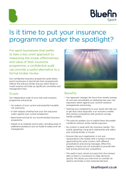 Is it time to put your insurance programme under the