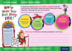 start your story activity sheet