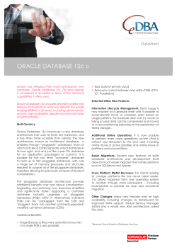 ORACLE DATABASE 12c »