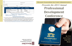 2015 Annual Professional Development Conference Brochure