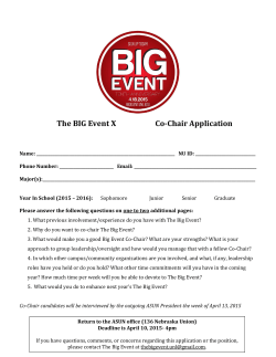 The BIG Event X Co-Chair Application