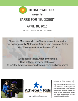 "BARRE FOR ""BUDDIES"""