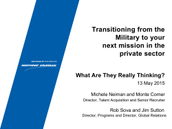 Transitioning from the Military to your next mission in the private sector