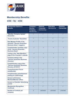 Membership Benefits side - by - side