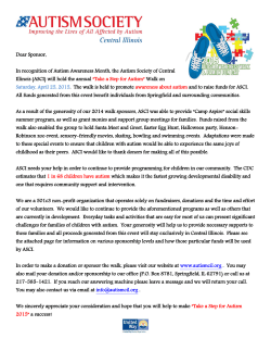 Sponsor Information - Autism Society of Central Illinois