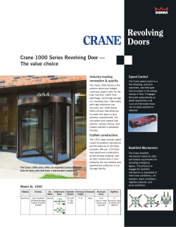 Crane 1000 Series Revolving Door — The value choice