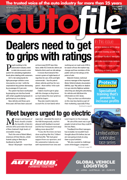 Dealers need to get to grips with ratings