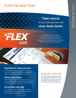 FLEX F&I Deal Tools