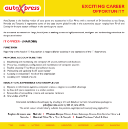 Careers - IT Officer
