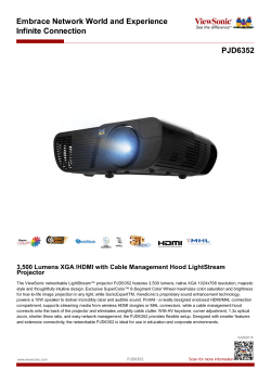 3,500 Lumens XGA /HDMI with Cable Management Hood