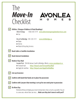 The Move-In Checklist