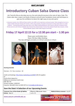 Introductory Cuban Salsa Dance Class