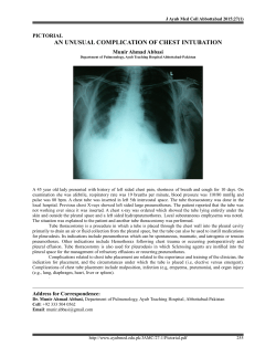 an unusual complication of chest intubation