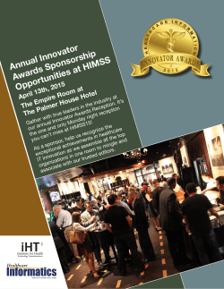 Annual Innovator Awards Sponsorship Opportunities at HIMSS