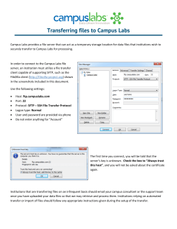 Transferring files to Campus Labs