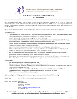 the full job description. - Big Brothers Big Sisters of Calgary and Area