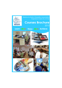 Courses Brochure - Barrow & District Disability Association