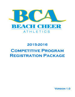 2015/2016 Competitive Team Information Package
