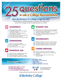 25 questions to ask a college representative flyer
