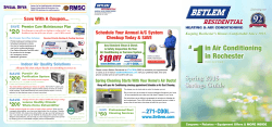 Betlem Rochester Central Air Conditioning Spring 2015 Savings